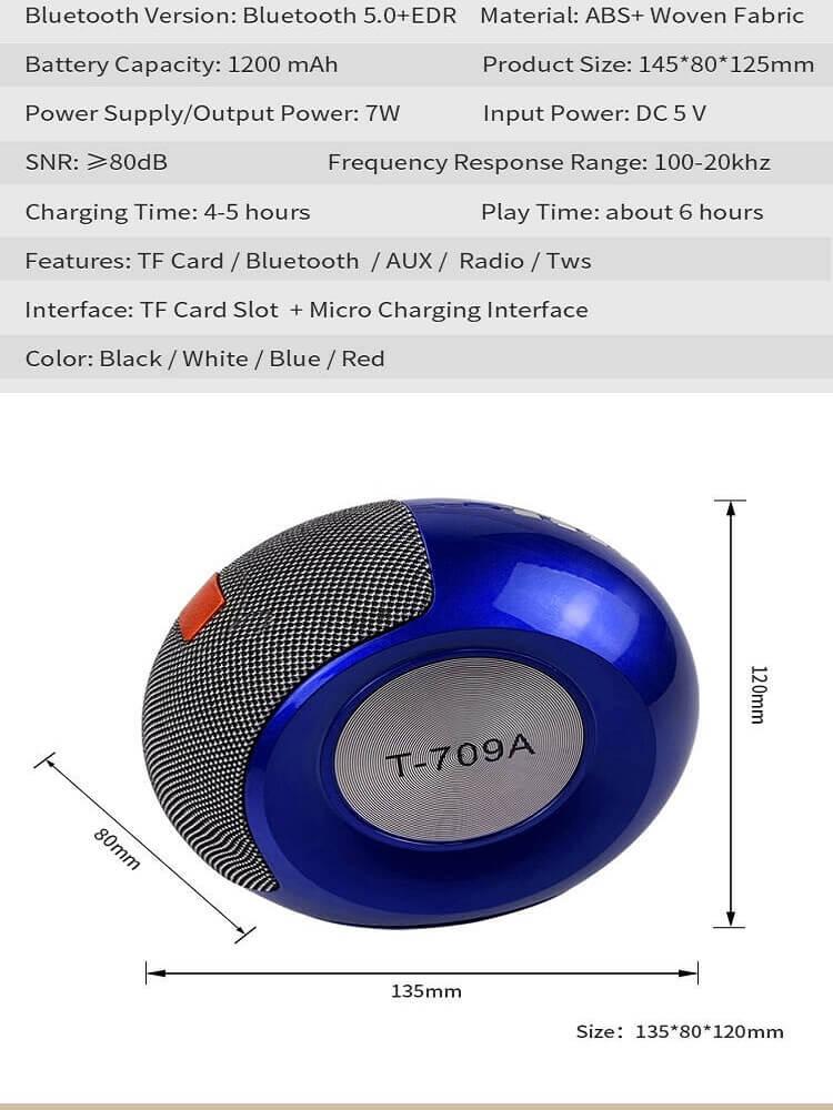 Stereo Bass FM Radio Mini Portable Wireless Bluetooth  Speaker 22