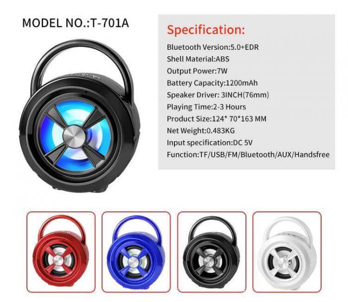 Good Sound Quality Mini Wireless Portable Bluetooth Speaker 8