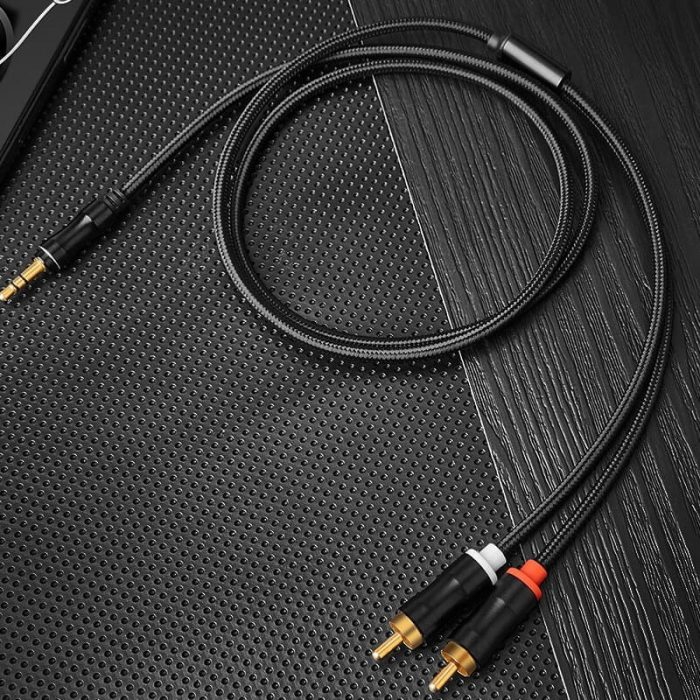 Metal Head 3.5MM to 2RCA cable 3.5MM to 2RCA Audio cable 2
