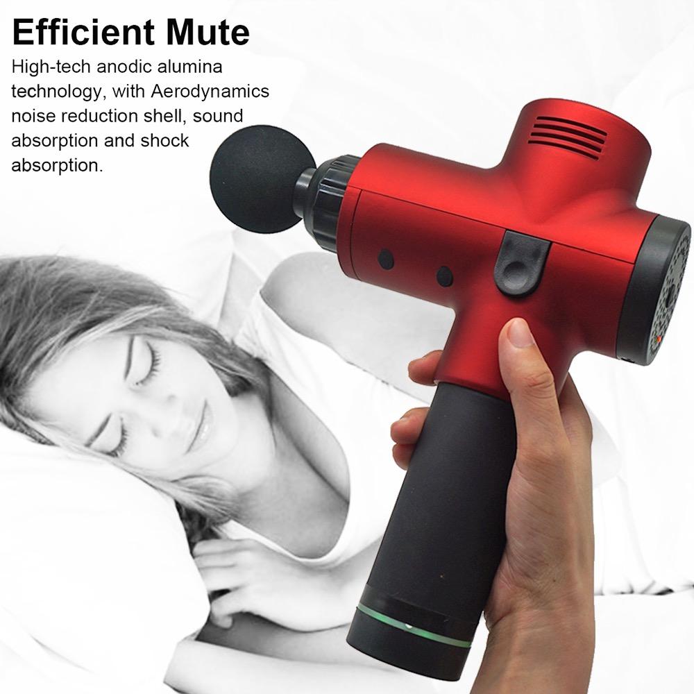 Electric Deep Vibrating Tissue Fascia Muscle Massager Gun Portable Body Massager 20