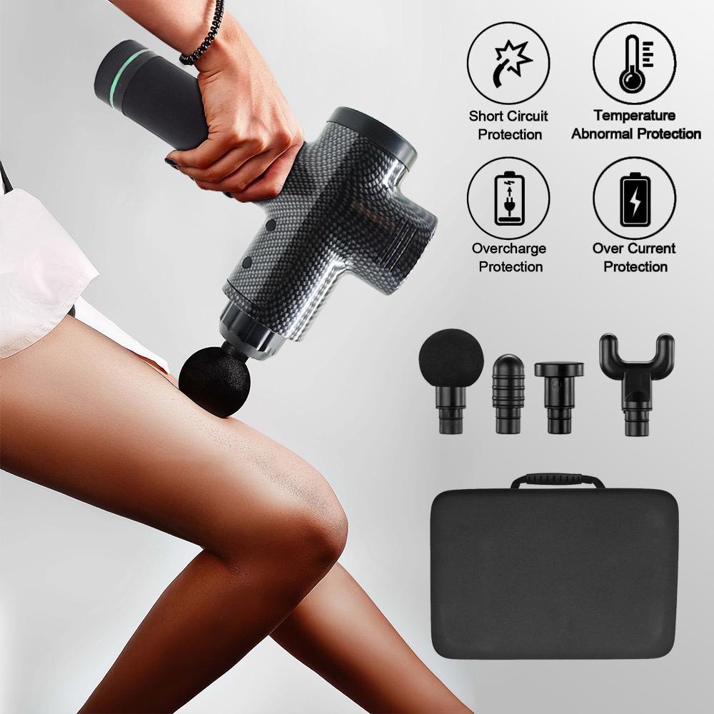 Electric Deep Vibrating Tissue Fascia Muscle Massager Gun Portable Body Massager 22