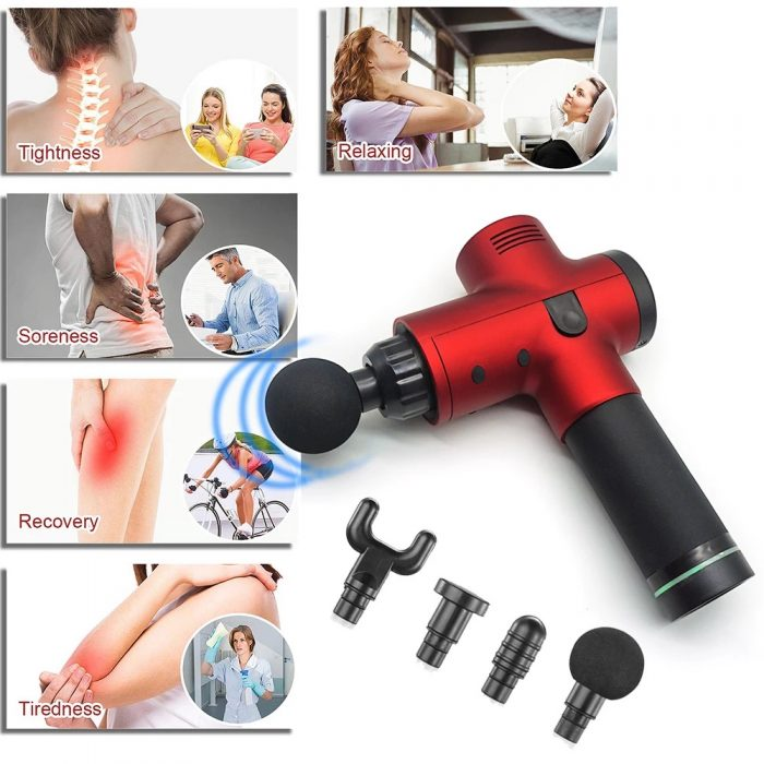 Electric Deep Vibrating Tissue Fascia Muscle Massager Gun Portable Body Massager 8