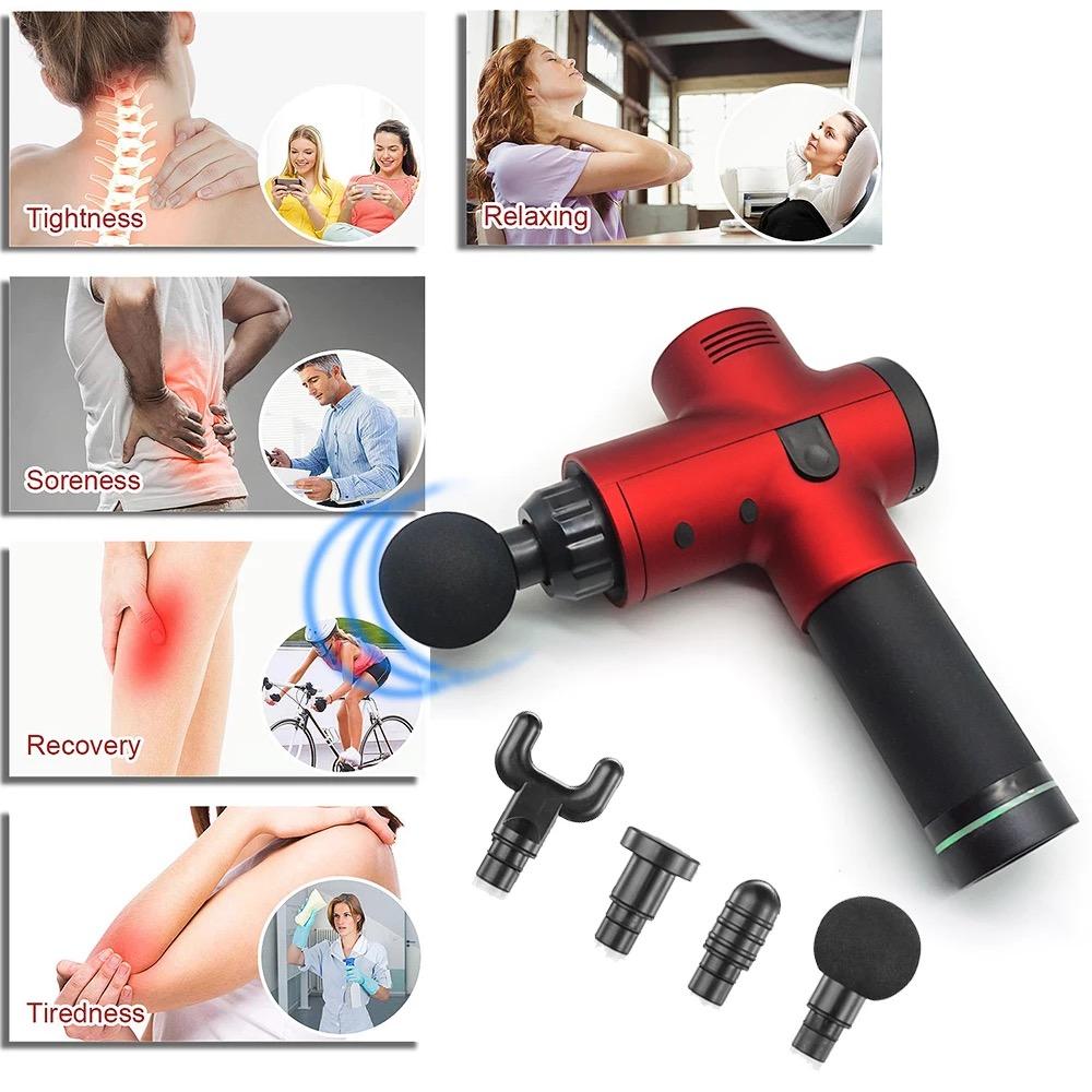 Electric Deep Vibrating Tissue Fascia Muscle Massager Gun Portable Body Massager 7
