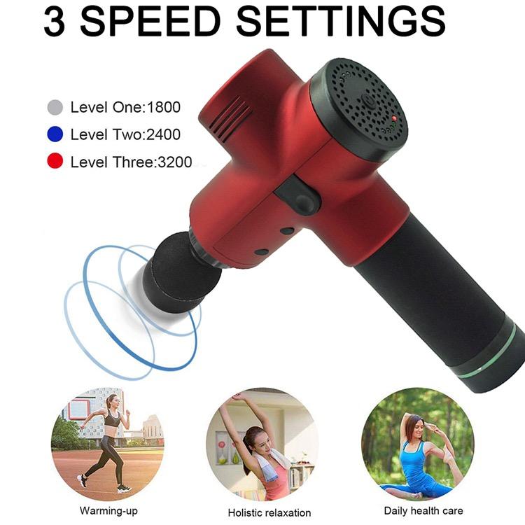 Electric Deep Vibrating Tissue Fascia Muscle Massager Gun Portable Body Massager 10