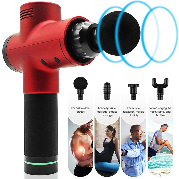Electric Deep Vibrating Tissue Fascia Muscle Massager Gun Portable Body Massager 14