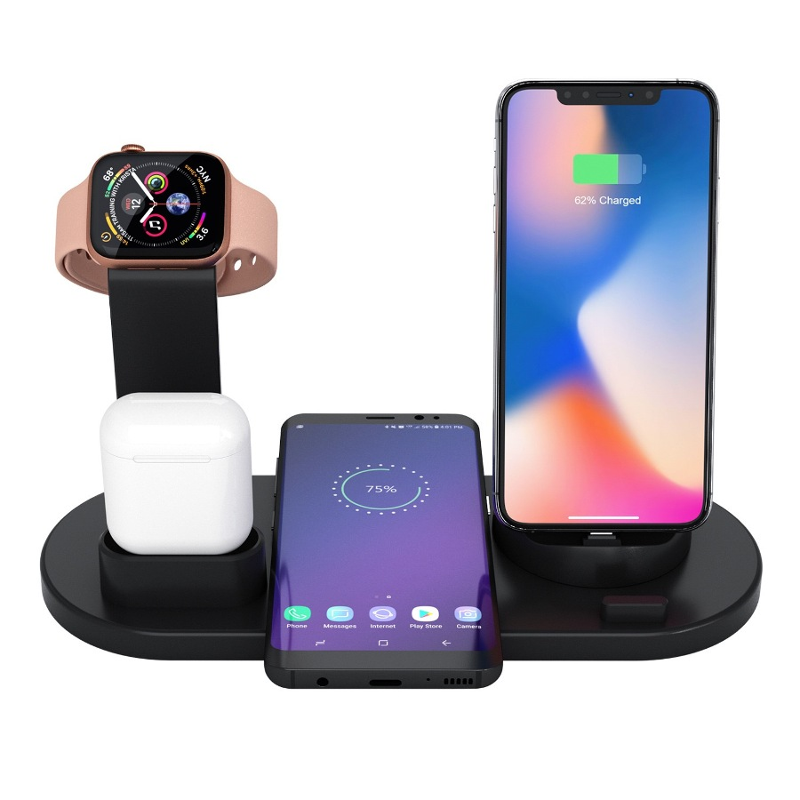 2019 Newest 3 in 1 Wireless Charger for Phone Watch Earphone 22