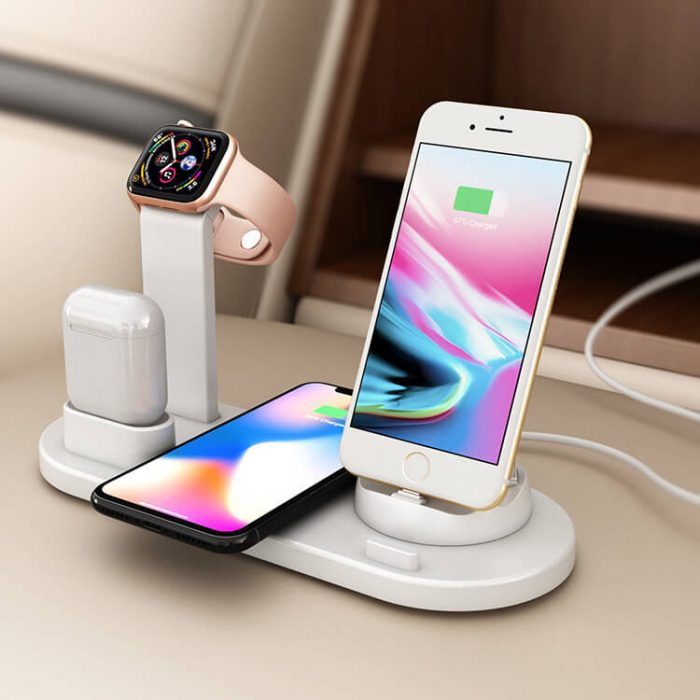 2019 Newest 3 in 1 Wireless Charger for Phone Watch Earphone 4
