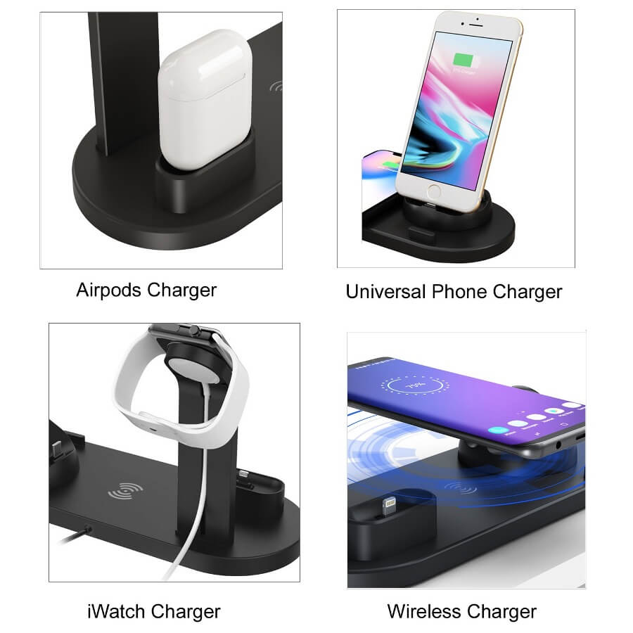 2019 Newest 3 in 1 Wireless Charger for Phone Watch Earphone 12