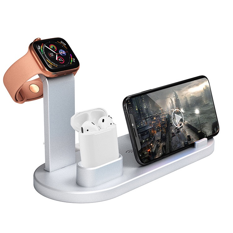 2019 Newest 3 in 1 Wireless Charger for Phone Watch Earphone 18