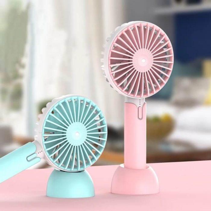 Creative Mini Hand Fan for Office Use Rechargeable USB Handheld Fan 6
