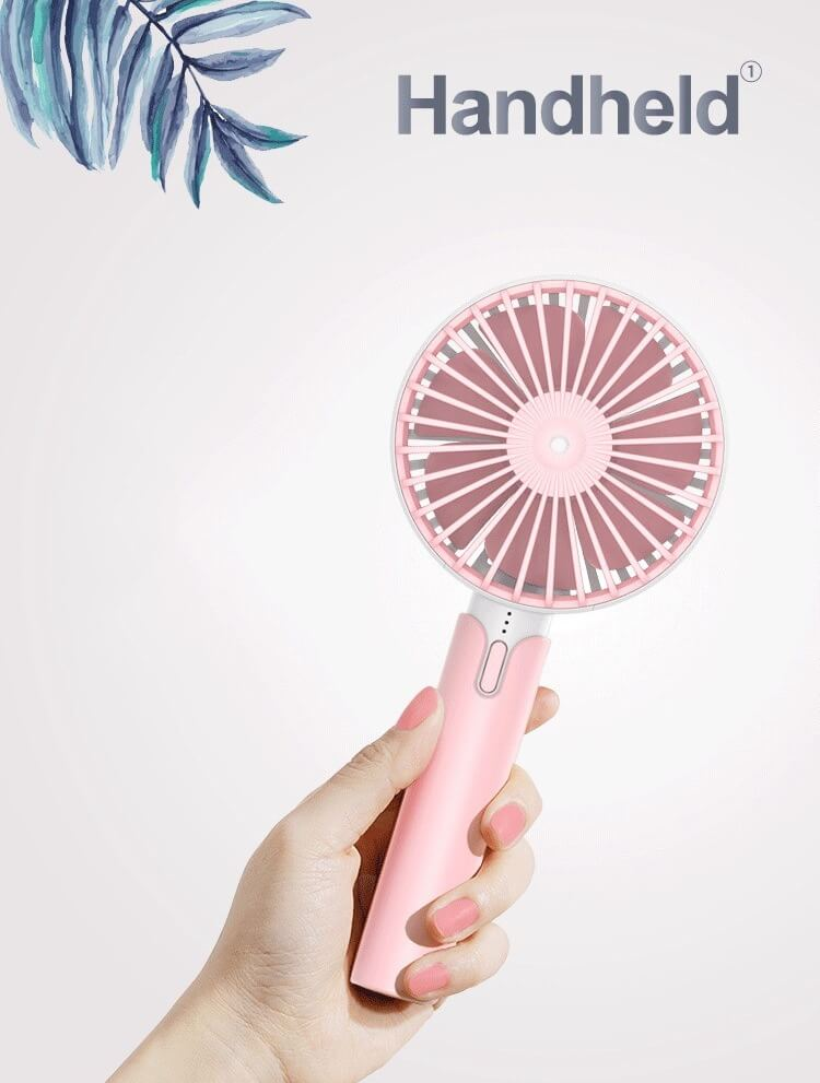 Creative Mini Hand Fan for Office Use Rechargeable USB Handheld Fan 12