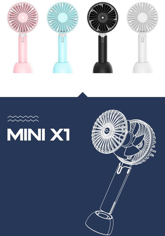 Creative Mini Hand Fan for Office Use Rechargeable USB Handheld Fan 16