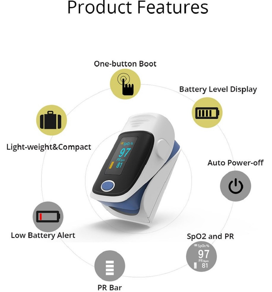 Hot-selling Finger Pulse Oximeter Medical Diagnostic Pulse Oximeter 2019 22