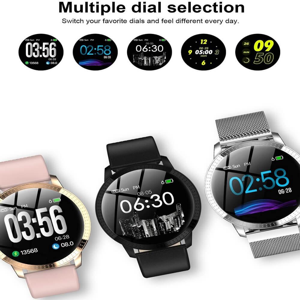 CF18 Waterproof Smartwatch Blood Pressure Monitor Smart Watch Women Band 26