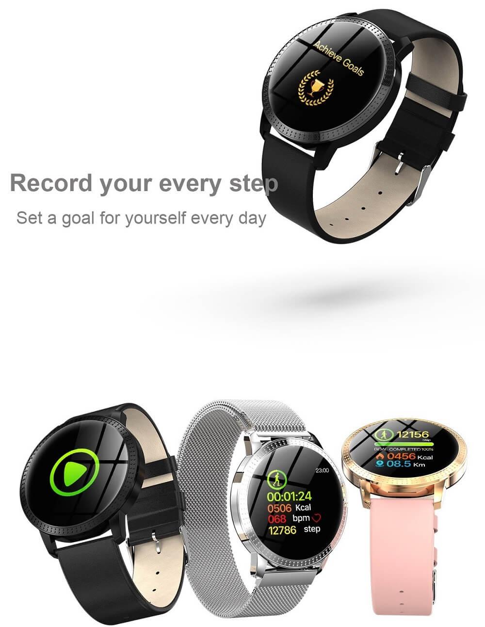 CF18 Waterproof Smartwatch Blood Pressure Monitor Smart Watch Women Band 32