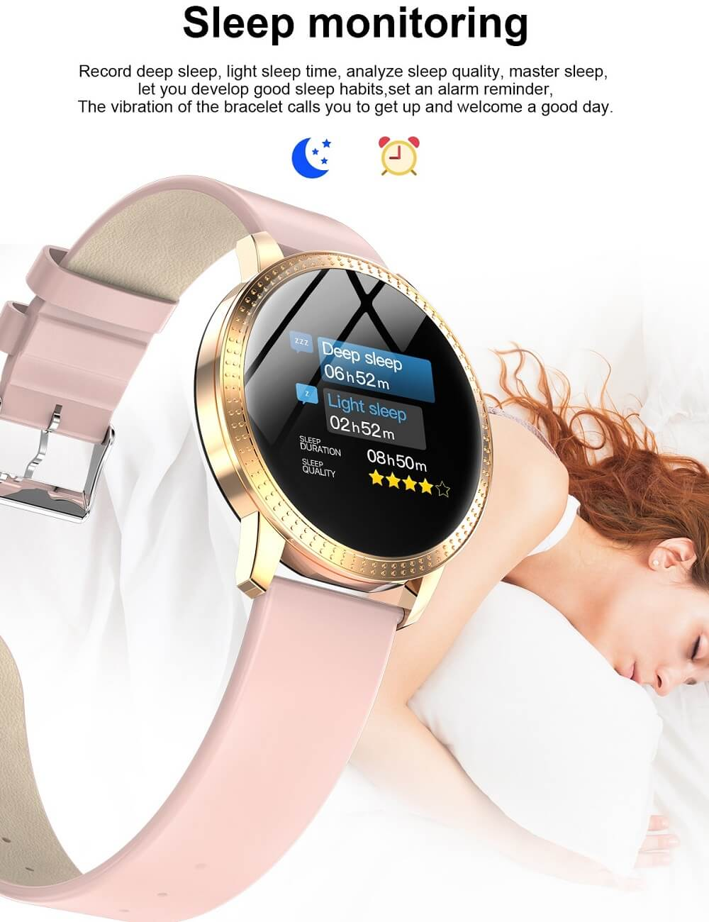 CF18 Waterproof Smartwatch Blood Pressure Monitor Smart Watch Women Band 36