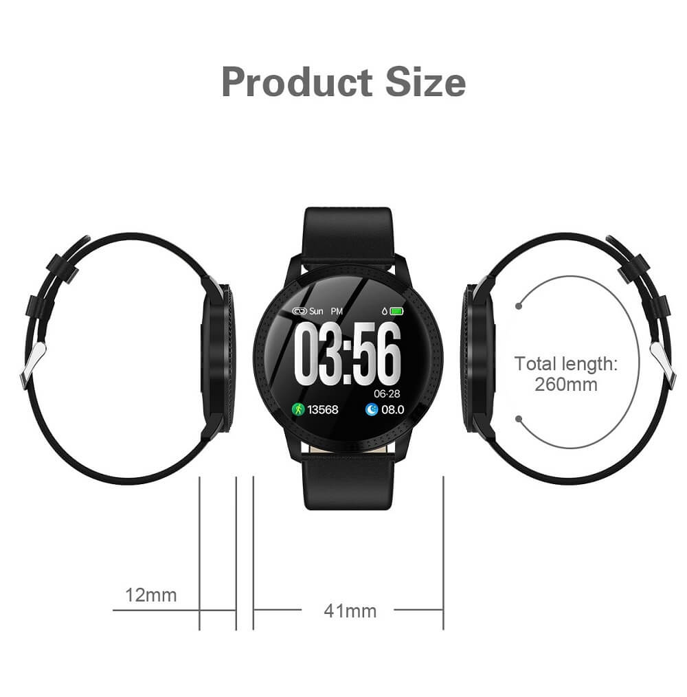 CF18 Waterproof Smartwatch Blood Pressure Monitor Smart Watch Women Band 44