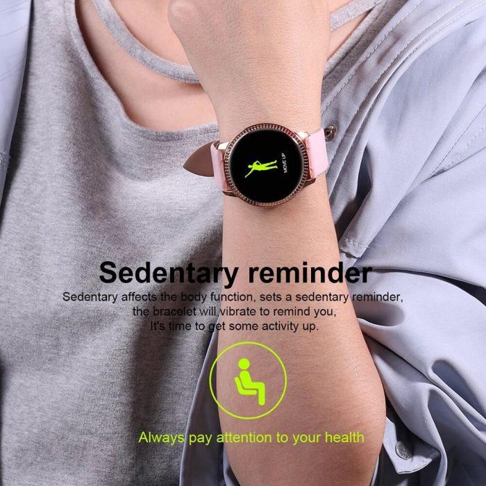 CF18 Waterproof Smartwatch Blood Pressure Monitor Smart Watch Women Band 10