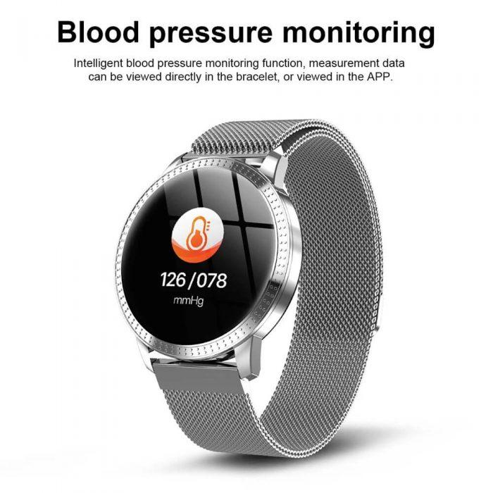 CF18 Waterproof Smartwatch Blood Pressure Monitor Smart Watch Women Band 12