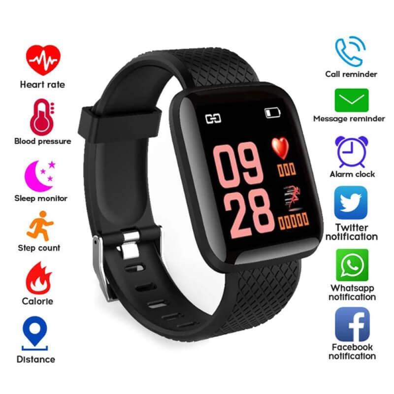 D13 Smartwatch Men Women For Android IOS Waterproof Heart Rate Tracker Sport Smart Watch 9