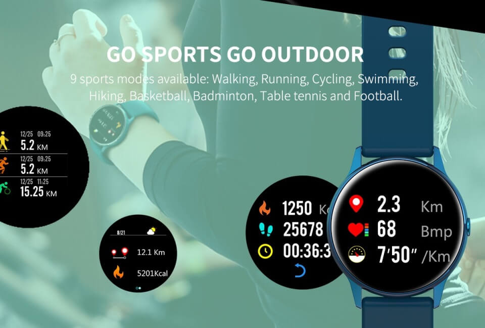 DT88 Sports Smartwatch 2020 For Android IOS Smart Watch Heart Rate Monitor 24
