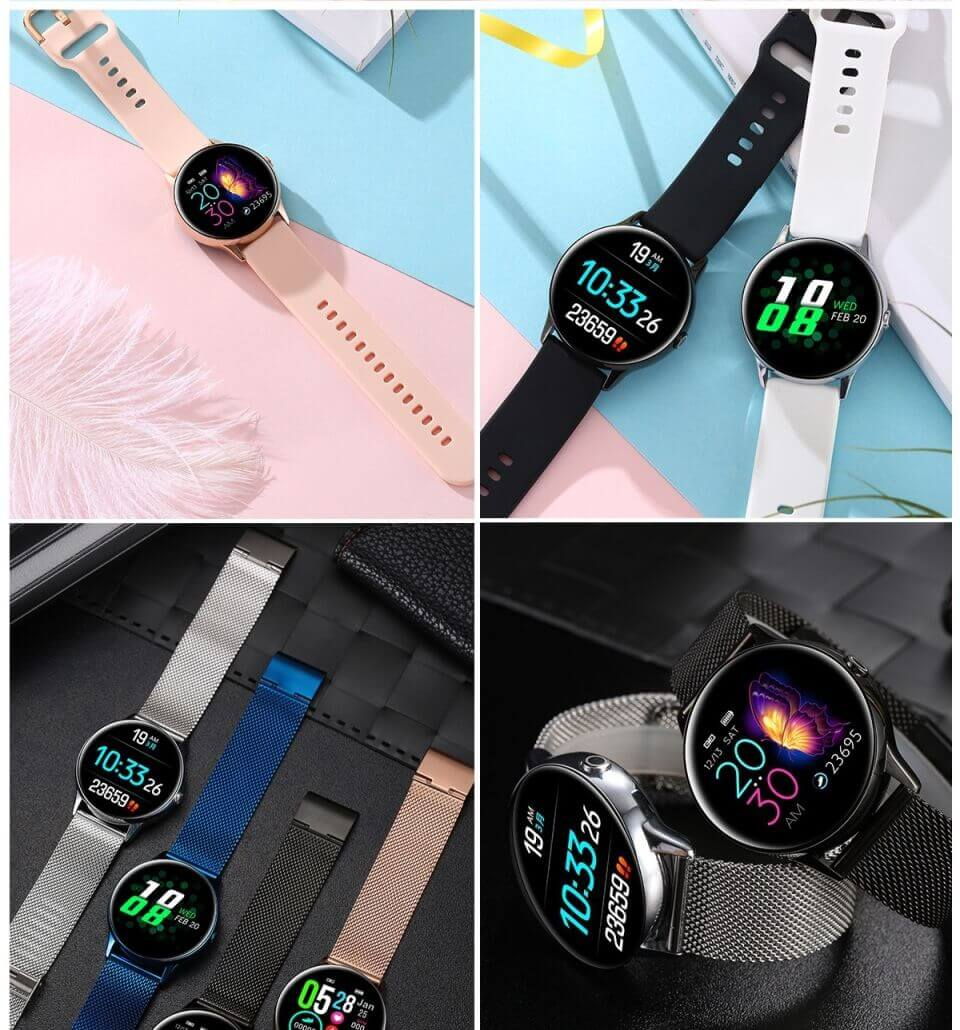 DT88 Sports Smartwatch 2020 For Android IOS Smart Watch Heart Rate Monitor 44