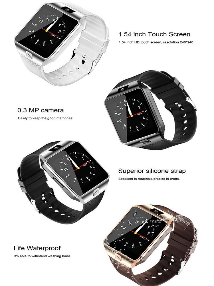DZ09 Smartwatch Cheap Mobile Phone Watch Smart Wrist Watch Phone with Touch Screen Camera 18