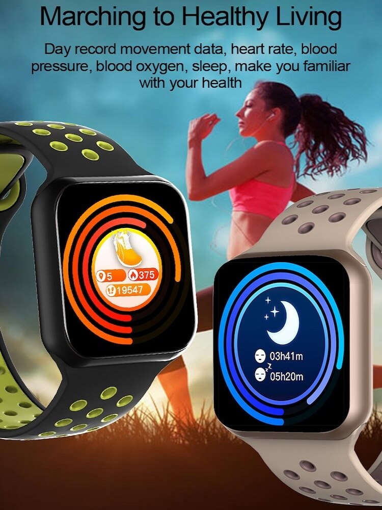 F8 Touch Screen Smartwatch Smart Bracelet Waterproof Smart watch Heart Rate Monitor 20