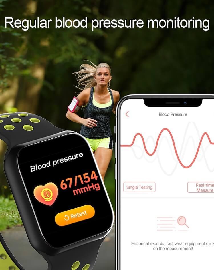 F8 Touch Screen Smartwatch Smart Bracelet Waterproof Smart watch Heart Rate Monitor 26
