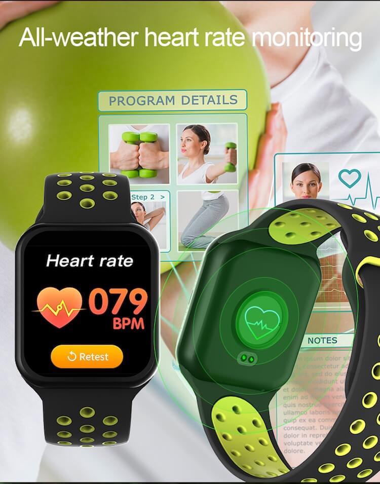 F8 Touch Screen Smartwatch Smart Bracelet Waterproof Smart watch Heart Rate Monitor 24