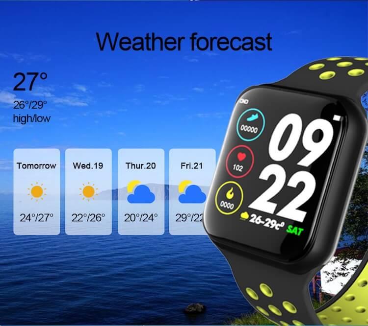 F8 Touch Screen Smartwatch Smart Bracelet Waterproof Smart watch Heart Rate Monitor 14