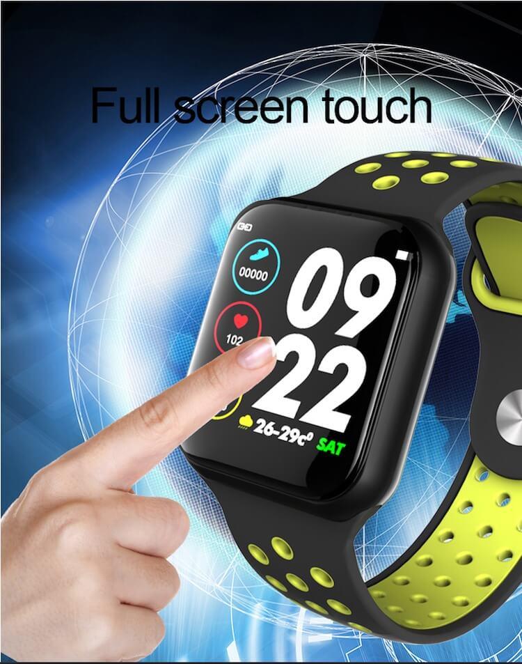 F8 Touch Screen Smartwatch Smart Bracelet Waterproof Smart watch Heart Rate Monitor 16