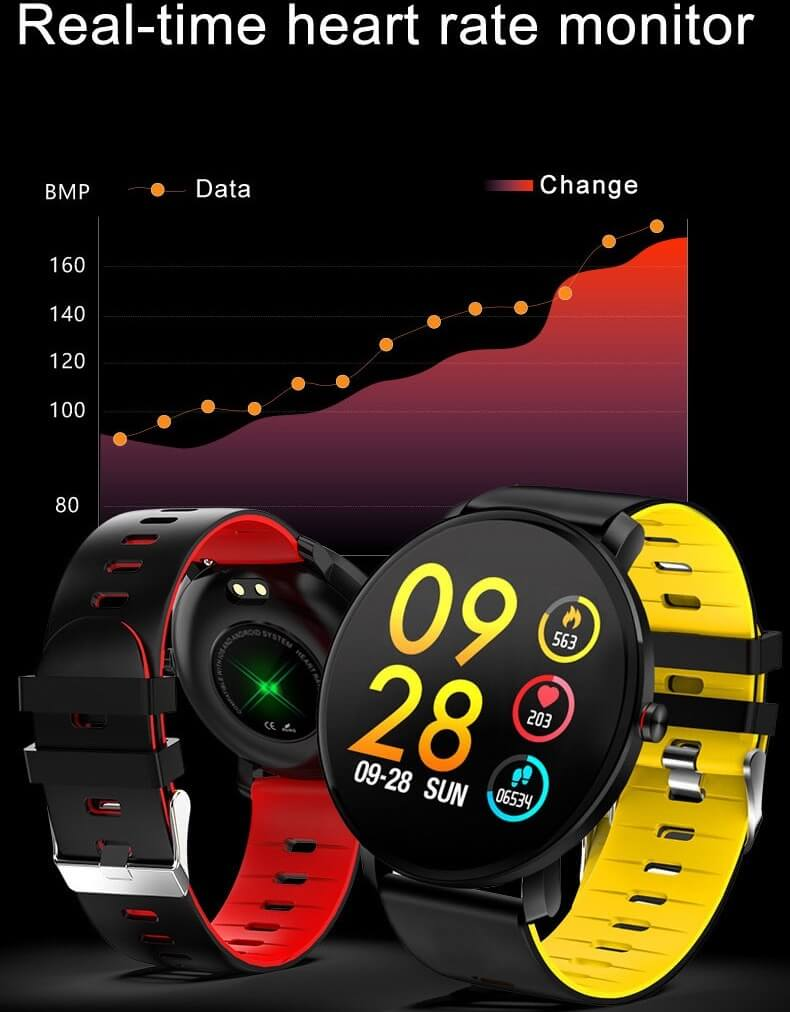 K9 Bracelet Heart Rate Smartwatch Waterproof Weather Forecast Smart Watch 2019 32