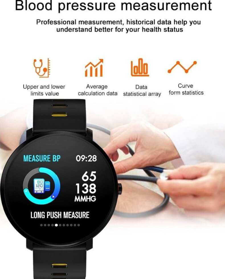 K9 Bracelet Heart Rate Smartwatch Waterproof Weather Forecast Smart Watch 2019 34