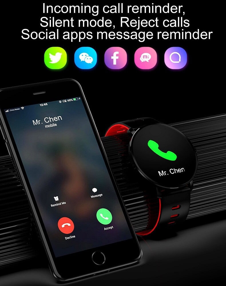 K9 Bracelet Heart Rate Smartwatch Waterproof Weather Forecast Smart Watch 2019 36