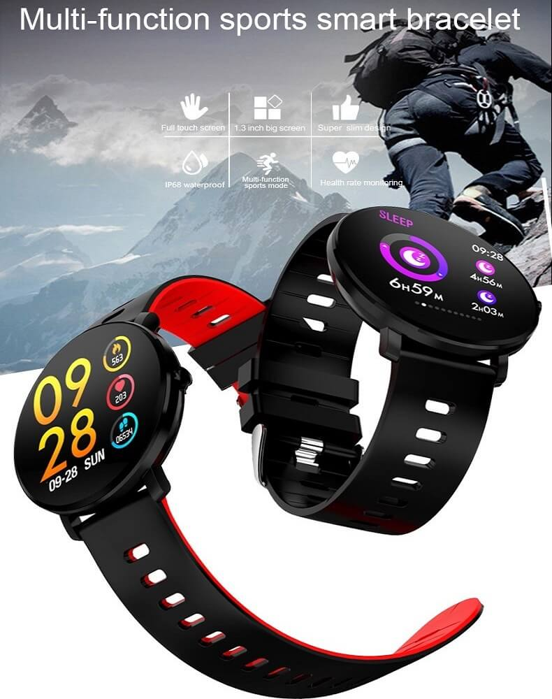 K9 Bracelet Heart Rate Smartwatch Waterproof Weather Forecast Smart Watch 2019 14