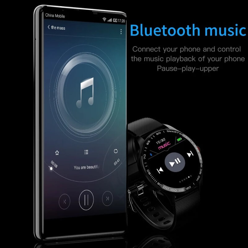 Cheap full touch screen smartwatch dynamic heart rate ECG PPG blood pressure L9 smart watch 3
