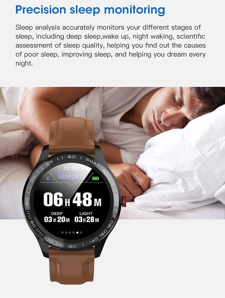 Cheap full touch screen smartwatch dynamic heart rate ECG PPG blood pressure L9 smart watch 48