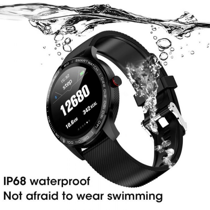 Cheap full touch screen smartwatch dynamic heart rate ECG PPG blood pressure L9 smart watch 8