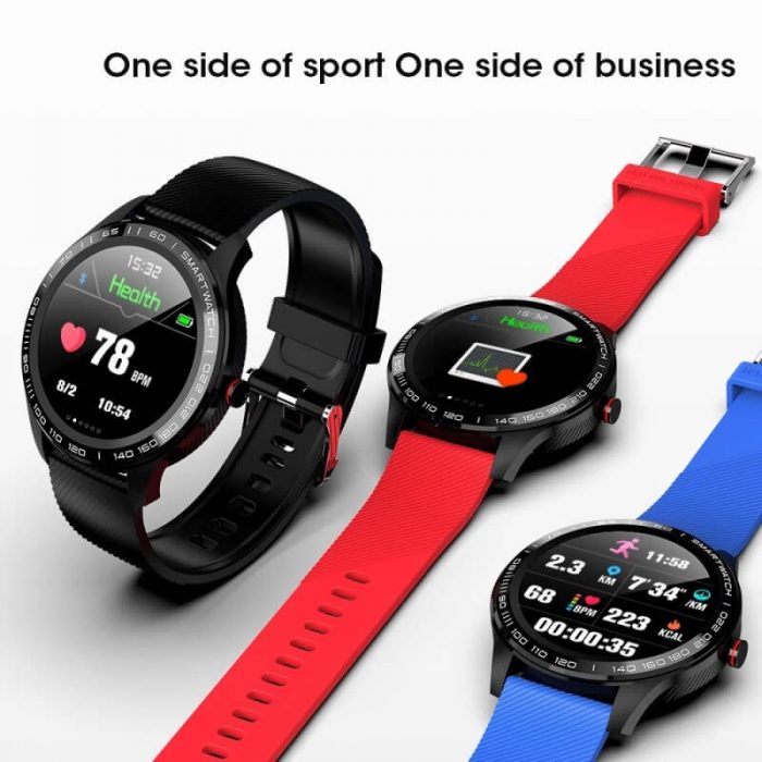 Cheap full touch screen smartwatch dynamic heart rate ECG PPG blood pressure L9 smart watch 10