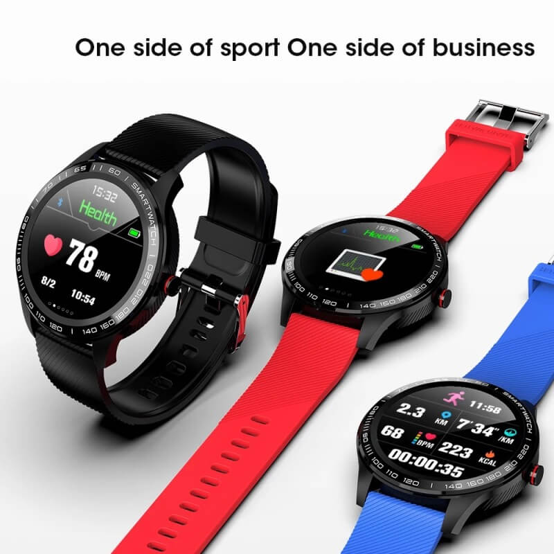 Cheap full touch screen smartwatch dynamic heart rate ECG PPG blood pressure L9 smart watch 9
