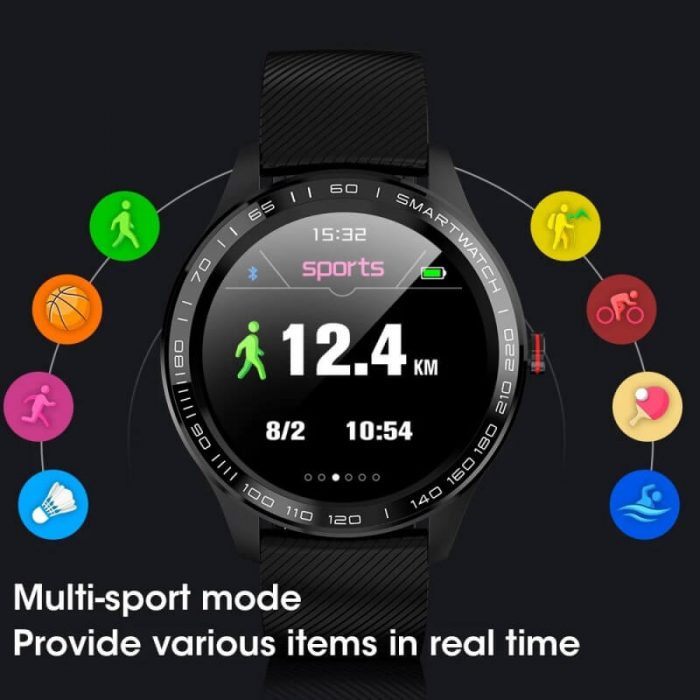 Cheap full touch screen smartwatch dynamic heart rate ECG PPG blood pressure L9 smart watch 12