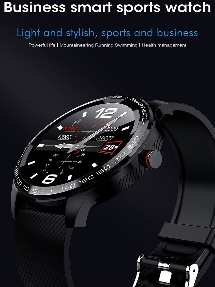 Cheap full touch screen smartwatch dynamic heart rate ECG PPG blood pressure L9 smart watch 14