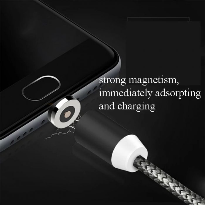 2019 newest 3 in 1 magnet USB charging cable magnetic cable 4