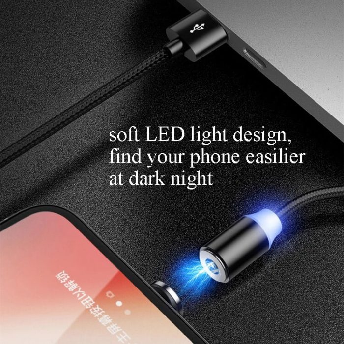 2019 newest 3 in 1 magnet USB charging cable magnetic cable 6