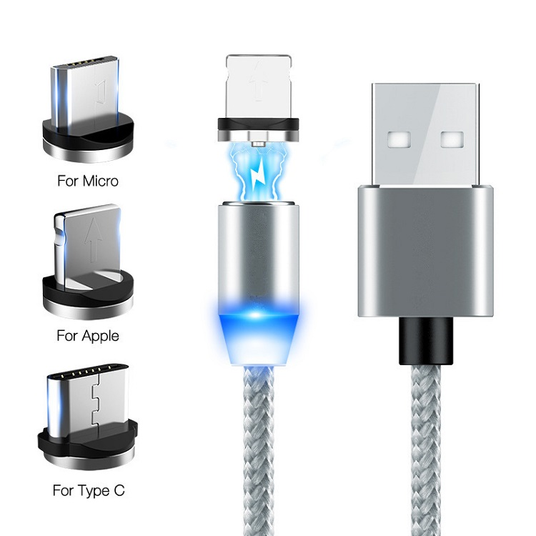 2019 newest 3 in 1 magnet USB charging cable magnetic cable 10