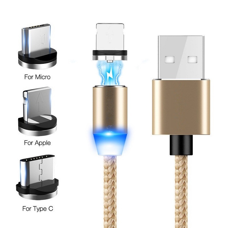 2019 newest 3 in 1 magnet USB charging cable magnetic cable 11