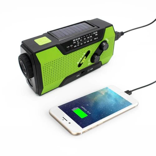 Solar Dynamo Radio Portable USB Charger Hand-cranked Flashlight 32