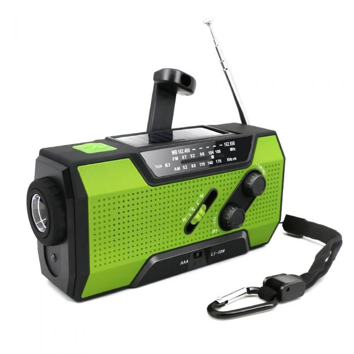 Solar Dynamo Radio Portable USB Charger Hand-cranked Flashlight 4