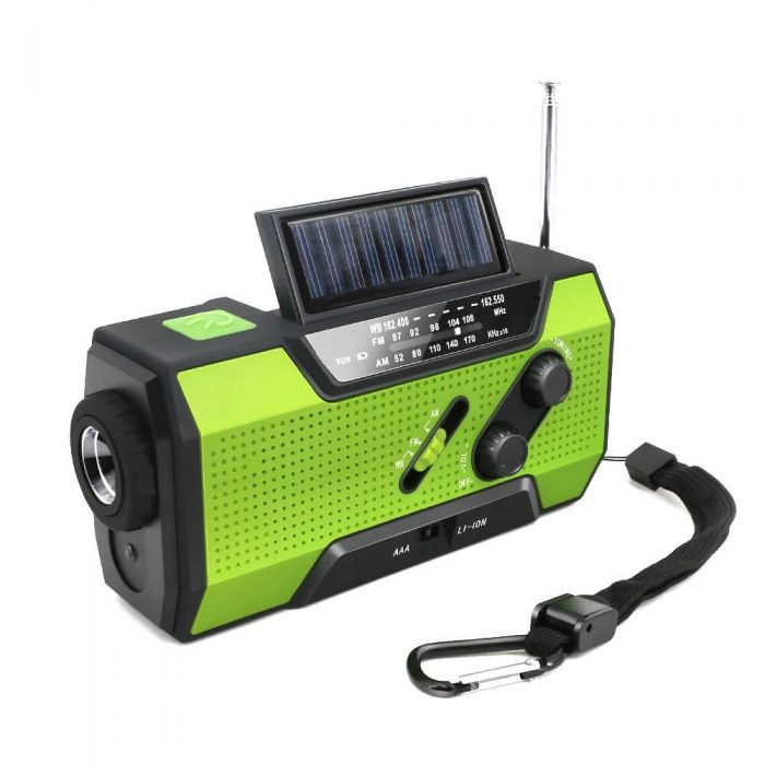 Solar Dynamo Radio Portable USB Charger Hand-cranked Flashlight 6